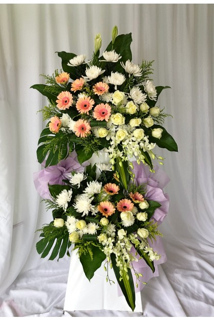 In Loving Memory 2 Tiers Condolence Flower Stand