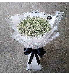 Baby Breath Hand Bouquet (White)