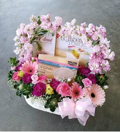 Healthy Gifts & Flowers Basket