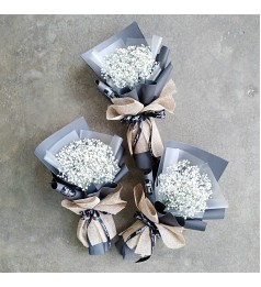 Baby Breath Mini Hand Bouquet
