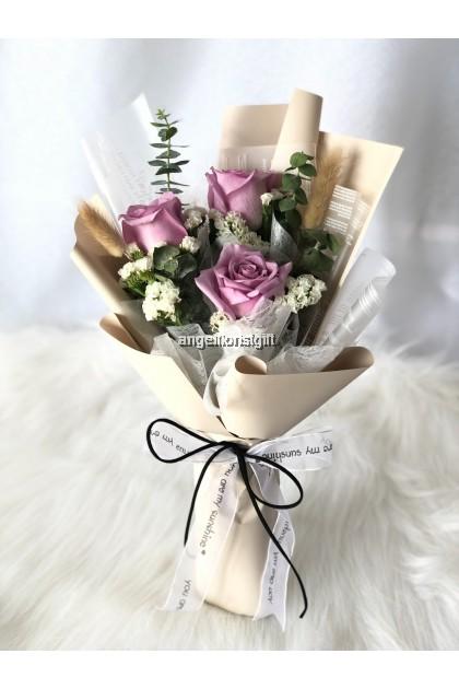Petite Fluer Small Bouquet Purple Roses